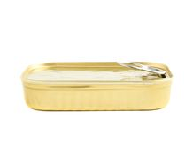Easy open sardine can with the pull tab Royalty Free Stock Photos