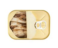 Easy open sardine can with the pull tab Royalty Free Stock Image