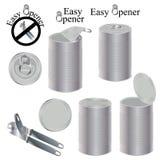 Easy opener tin Royalty Free Stock Image