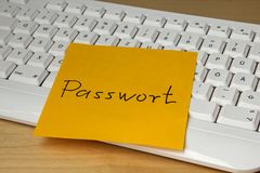 Easy Password concept written post it royalty free stock images