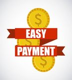 Easy payment design Stock Images