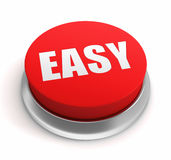 Easy push button concept 3d illustration. Easy push button 3d 3d illustration  on white background Royalty Free Stock Image