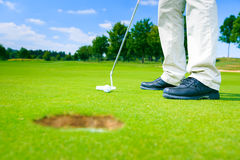 This Is A Really Easy Putting Challenge Royalty Free Stock Images