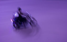 Easy Rider. A motorcycle rider at night, motion blur abstract Royalty Free Stock Photo