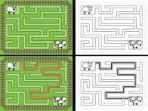 Easy sheep maze Royalty Free Stock Photos