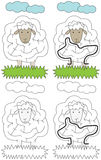 Easy sheep maze Royalty Free Stock Images