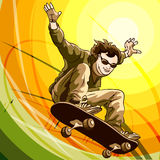 Easy skater Royalty Free Stock Images