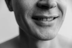 Easy smile closeup. Stock Photo