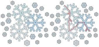 Easy snowflake maze Royalty Free Stock Photos