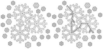 Easy snowflake maze Royalty Free Stock Photo