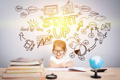 Easy start up business planner management concept Royalty Free Stock Photo