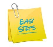 Easy steps post it memo illustration design Stock Images