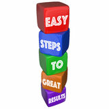 Easy Steps to Great Results Cube Tower Stock Photos