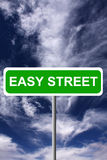 Easy street. Things going well for you and finding yourself on easy street Royalty Free Stock Image