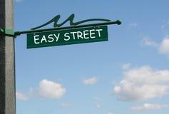 Easy street. Sign Stock Photo