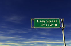Easy Street Freeway Exit Sign stock images