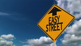 Easy Street Road Sign Background Concept