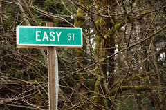 Easy Street road sign concept Stock Photography