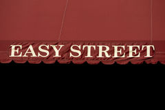 Easy street sign Stock Photo