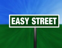Easy Street Street Sign Royalty Free Stock Image