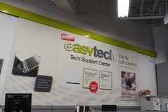 Easy Tech department at Staples stock image