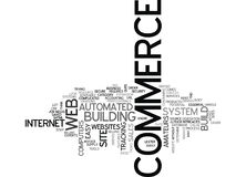 Is It Easy To Build An E Commerce Web Site Text Background  Word Cloud Concept Stock Photography