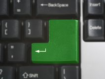 Easy to edit ENTER computer key Royalty Free Stock Image
