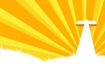 White cross. Easy to edit  illustration of calvary crucifixion Stock Photo