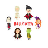 Easy to edit  illustration of Halloween character.Vector Stock Image