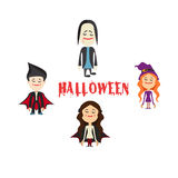 Easy to edit  illustration of Halloween character.Vector Stock Images