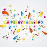 Paper Confetti Background Stock Photo