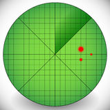 Easy to Edit Radar Screen Template - Radar With Targets. Royalty Free Stock Image