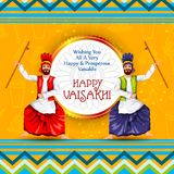 Celebration of Punjabi festival Vaisakhi background. Easy to edit vector illustration of celebration of Punjabi festival Vaisakhi background Stock Photography