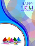 Vector illustration of Colorful splash for Holi background royalty free stock image