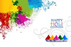 Vector illustration of Colorful splash for Holi background stock images