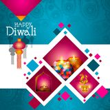 Illustration of decorated diya for Happy Diwali holiday background. Easy to edit vector illustration of decorated diya for Happy Diwali holiday background Stock Image