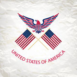 Easy to edit vector illustration of eagle with American flag for Independence day Royalty Free Stock Photos