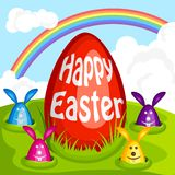 Easter egg and Bunny Royalty Free Stock Photo