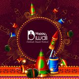 Vector illustration of firecracker for Happy Diwali holiday background. Easy to edit vector illustration of firecracker for Happy Diwali holiday background stock illustration