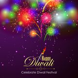 Firework in Happy Diwali night sky for India festival. Easy to edit vector illustration of firework in Happy Diwali night sky for India festival Royalty Free Stock Photography