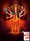 Happy Durga Puja India festival holiday background Stock Image