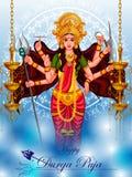 Happy Durga Puja India festival holiday background Stock Photo