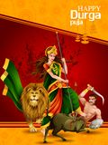 Happy Durga Puja India festival holiday background. Easy to edit vector illustration of Happy Durga Puja India festival holiday background Royalty Free Stock Photo
