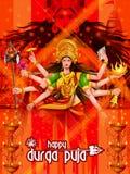 Happy Durga Puja India festival holiday background Stock Photography