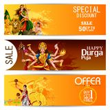 Happy Durga Puja India festival holiday Sale Offer advertisement background. Easy to edit vector illustration of Happy Durga Puja India festival holiday Sale Royalty Free Stock Photography