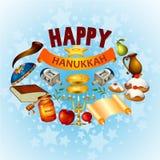 Happy Hanukkah for Israel Festival of Lights celebration. Easy to edit vector illustration of Happy Hanukkah for Israel Festival of Lights celebration Royalty Free Stock Image