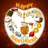 Happy Hanukkah for Israel Festival of Lights celebration. Easy to edit vector illustration of Happy Hanukkah for Israel Festival of Lights celebration Stock Images
