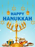 Happy Hanukkah for Israel Festival of Lights celebration. Easy to edit vector illustration of Happy Hanukkah for Israel Festival of Lights celebration Royalty Free Stock Photography