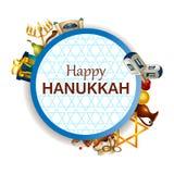 Happy Hanukkah for Israel Festival of Lights celebration. Easy to edit vector illustration of Happy Hanukkah for Israel Festival of Lights celebration Stock Photography
