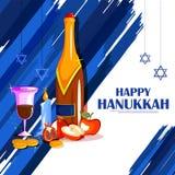 Happy Hanukkah for Israel Festival of Lights celebration Royalty Free Stock Photos